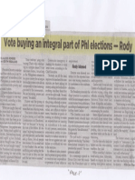 Philippine Star, May 14, 2019, Vote buying an integral part of Phl elections - Rody.pdf