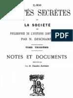 Les sociétés secrètes et la société (tome 3)