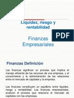 Finanzas Liquidez Riesgo y Rentabilidad