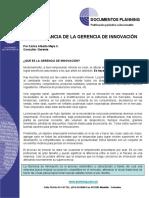 3 Articulo La Importancia de La Gerencia de Innovacion