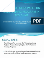 Proposed Policy Paper on Milk Feeding Program In