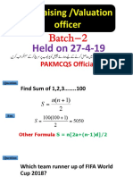Appraising Valuation officer past paper (2019) Batch 2.pdf