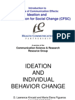 Ideation and Behaviour Change