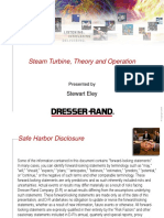 Steam Turbine, Theory and Operation