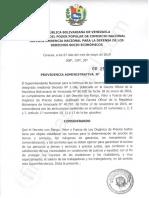 Providencia Administrativa N° 252-2019