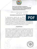 Providencia Administrativa N° 255-2019