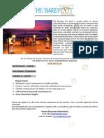 Job Posting - Receptionist & Maintenance Tec Commis III-pastry