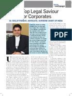 The Top Legal Saviour For Corporates- Dr. Kislay Panday