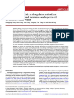 Application of Abscisic Acid Regulated Antioxidant Enzymes Activities And
