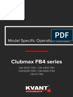 KVANT Clubma FB4 Series User Manual v100918