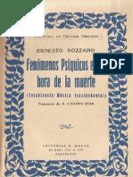 FENOMENOS PSIQUICOS EN LA HORA DE LA MUERTE - ERNESTO BOZZANO