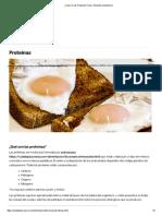 ¿Qué Son Las Proteínas_ Tipos, Alimentos y Beneficios