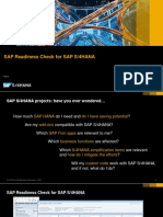 SAP Readiness Check PUBLIC