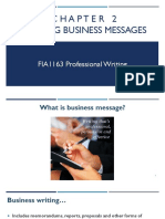 Chapter 2 - Writing Business Messages