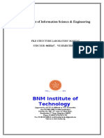 97195434 BNMIT File Structure Lab Manual