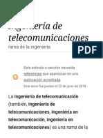 Ingeniería de Telecomunicaciones - Wikipedia, La Enciclopedia Libre