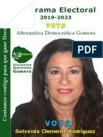 Programa Electoral ADGomera