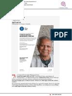 Il 20 maggio a Uniurb il Premio Nobel Yunus - Il Mascalzone.it, 13 maggio 2019