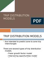 Trip Distribution Models