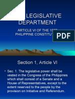 The Legislative Department