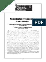 Ammonia plant revamp project