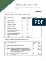NABARD Grade a B Syllabus Exam Pattern 2019 (Prelims_Main)