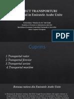 Proiect transporturi Emiratele Arabe