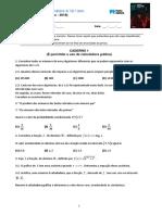 Teste Matematica 12 ano