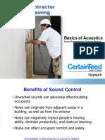 Ctg Basics of Acoustics Credential Training