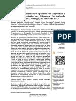 Analise Da Temperatura Aparente de Superficie e NDVI, Lisboa, Verão 2017