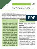 Effects of Dichrostachys Glomerata Feeding Regimes on Growth Performancegut Microbiota and Haematobiochemical Profile of Japanese