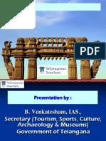 PPT on Telangana Tourism to Indian Ambassadors