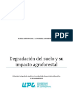 La Degradacion Del Suelo y Su Impacto Agroforestal