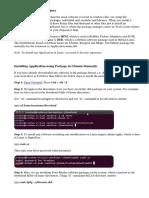 Basic of Instalation in UBUNTU.docx