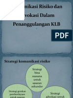 Komunikasi Risiko Dan Advokasi Dalam Penanggulangan KLB