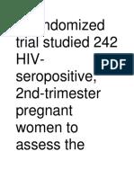A Randomized Trial Studied 242 HIV