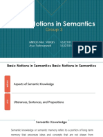 Basic Notions in Semantics