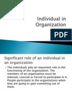 Individual in Organization