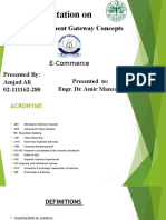 Draft E-Payment Gateway Concepts by Amjad Ali