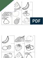 Bingo Frutas y Verduras 10 Tarjetas