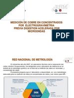 Validación-Concentrado Cobre Electrogravimetria Tirado