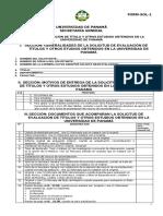 Evaluacion Titulo Univ Panama