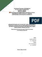 TG2568 Castillo Zuleima. Integración Social de Los Adultos y Adualtas Mayores a Través de La Práctica en Las Gerogranjas...