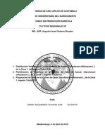 Infrome Final de Prácticas Cultivos Regionales II