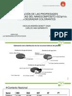 Evaluación de Las Propiedades Fotocatalíticas Del Nanocomposito Rgotio2 3
