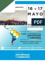 Foro Latinoamericano Universidad y Soberanía