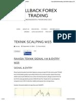 Teknik Scalping m15 - Pullback Forex Trading