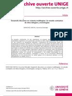 A. Desarrollo Discursivo en Contexto Multilingües Un Estudio Contrastivo en Niños Bilingües