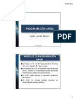 Programación Lineal Clase 2 Modelos