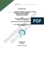 Informe Llano Del Tirado